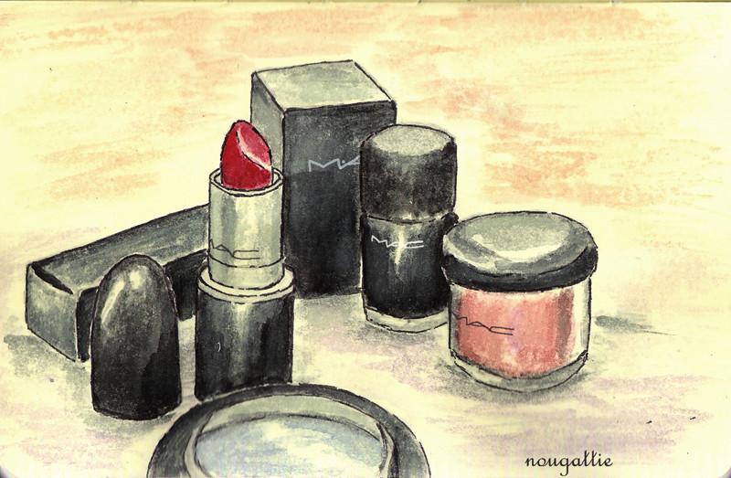Mac cosmetics illustration