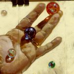 My hand and Marbles