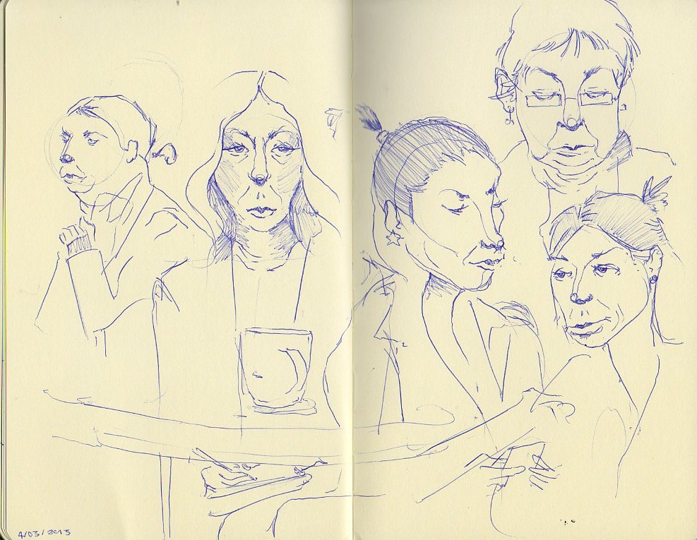Coffee shop drawing