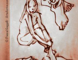Doodling her