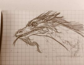 Lunchtime Moleskine Dragon