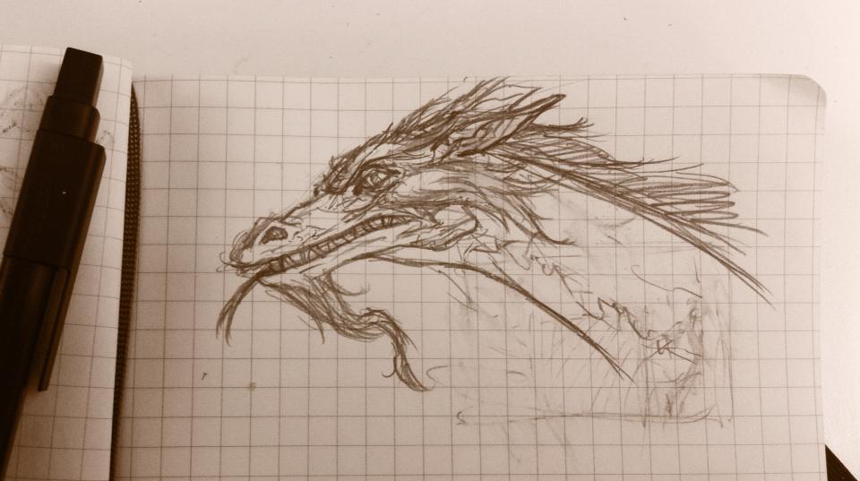 Lunchtime Moleskine Dragon