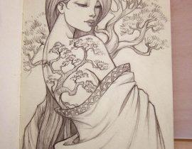 Bonsai Tattoo girl