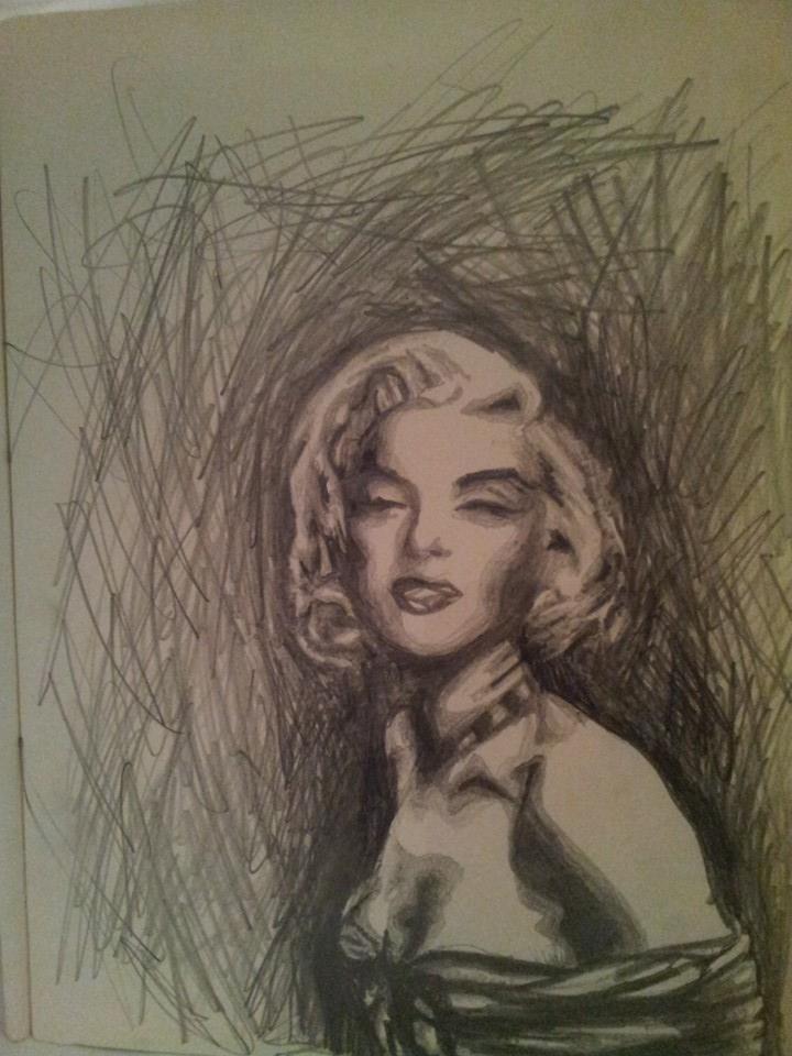 Pop art inspired sketch