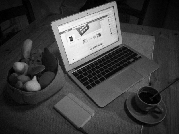 Morning desk B&W