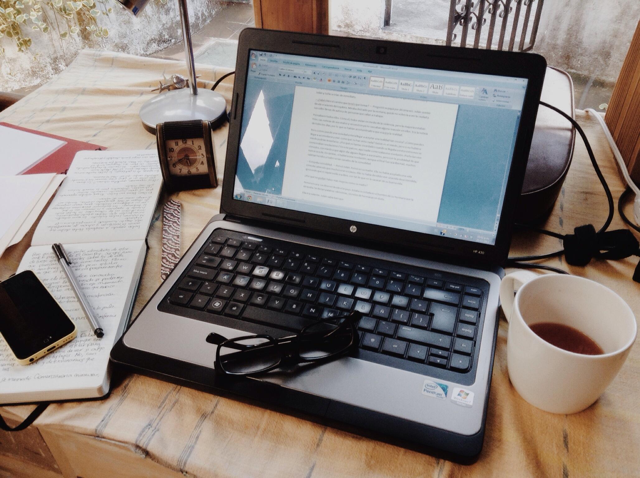 A writer's desk.