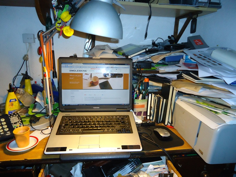 My confused desk