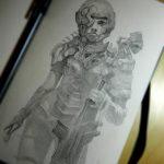 scifi armored girl