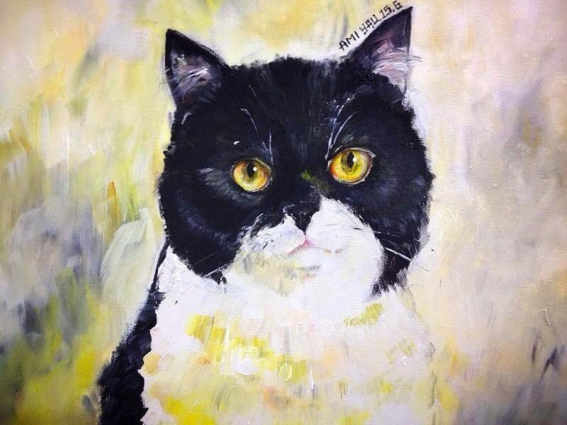 Mono tone cat