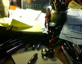 Making room to write!