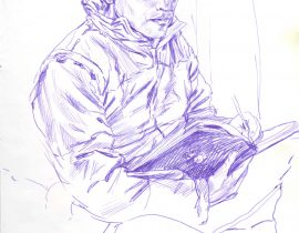 Self portrait with Moleskine