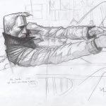 JP Peer Moleskine sketch-Skyfall