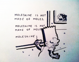 moleskine is not made of…