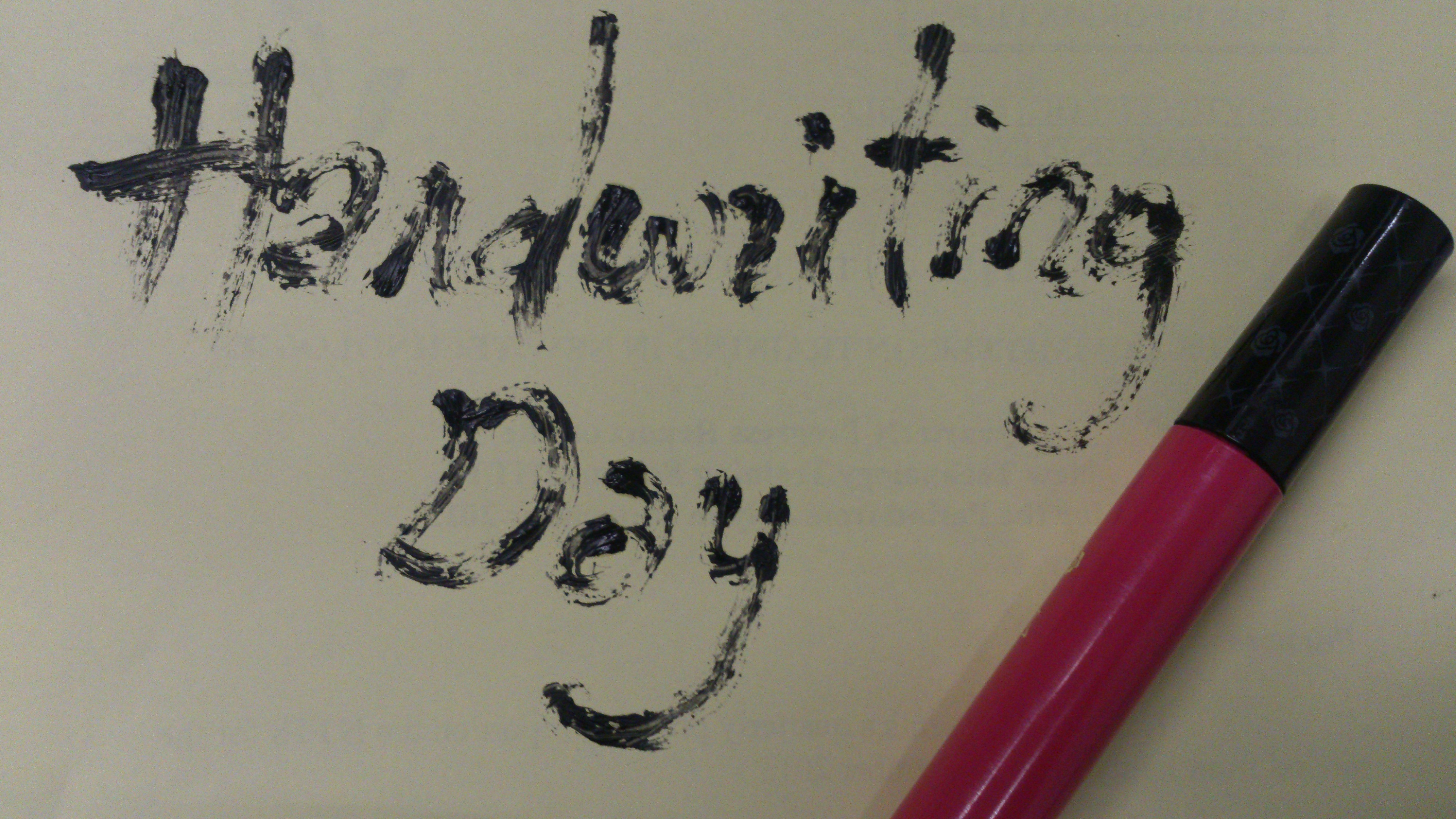 Handwriting Day: Mascara
