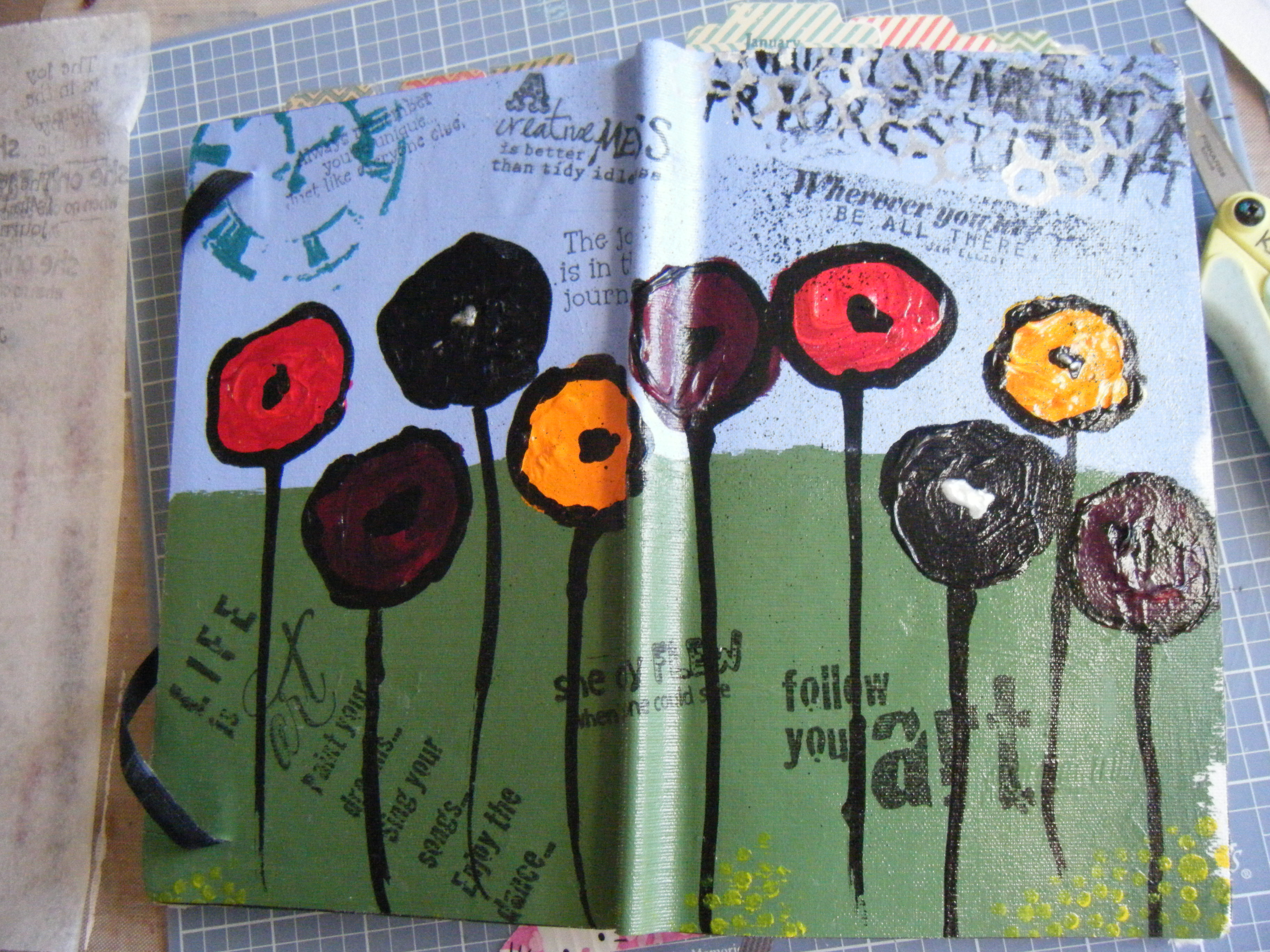 Art Journal using the 2014 Weekly Notebook