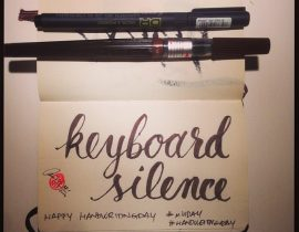 Handwritingday: Keyboard Silence