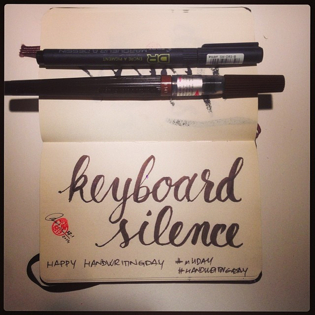 Handwritingday: Keyboard Silence