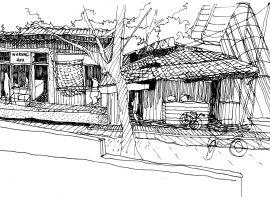 05-Urban village's shophouses in Jakarta