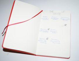 My Handwritten Blog Schedule – The Write Up