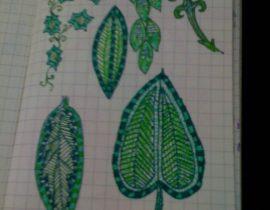 MOLESKINE GREEN DOODLES