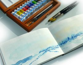MOLESKINE WATERCOLOUR NOTEBOOK+ WATERCOLOUR VAN GOGH,  ROYAL TALENS