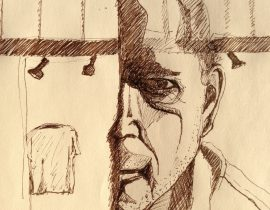 Reflexion in Window, Self-portrait