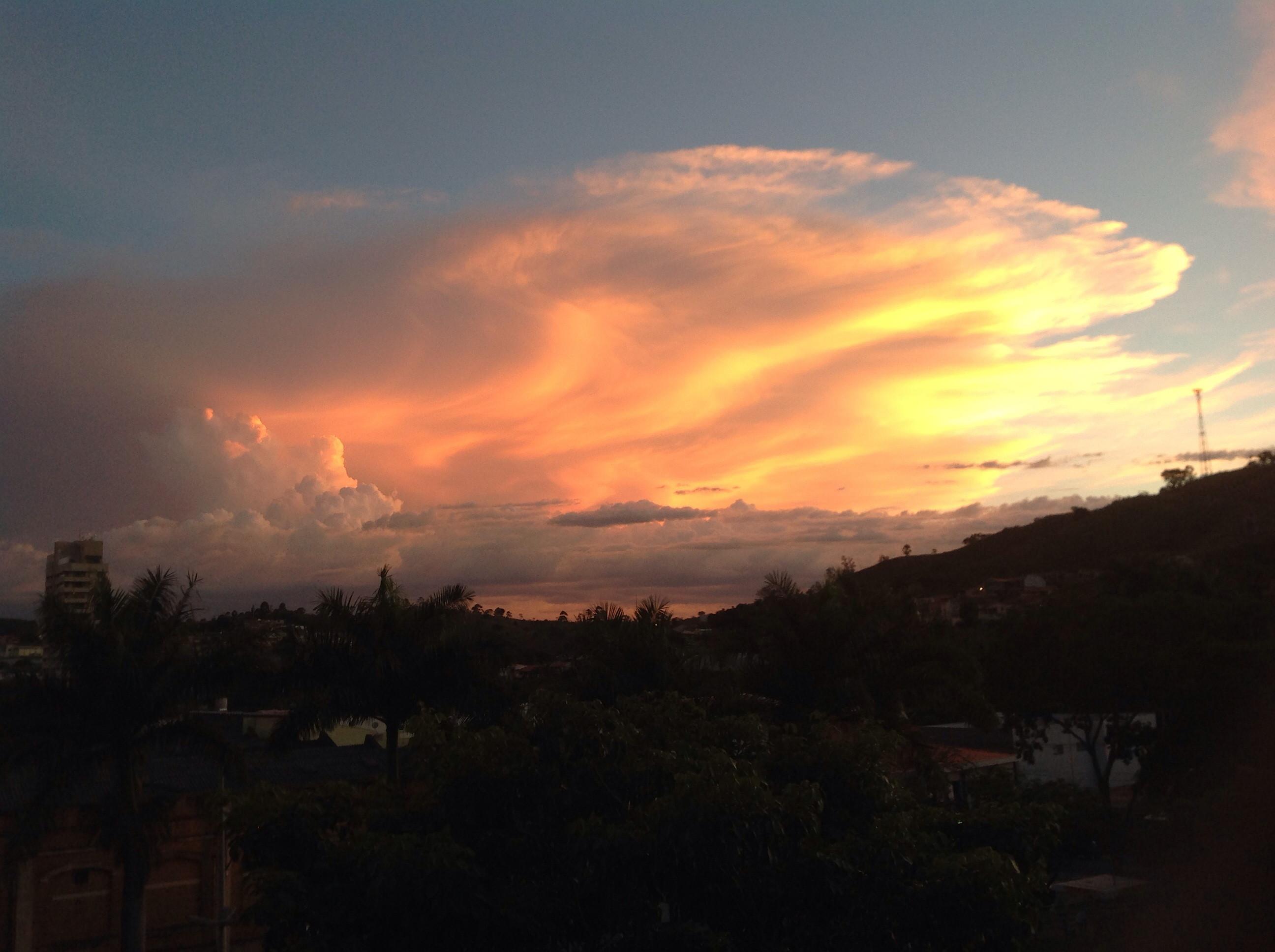 Beautiful sunset inPedreira/ Brazil