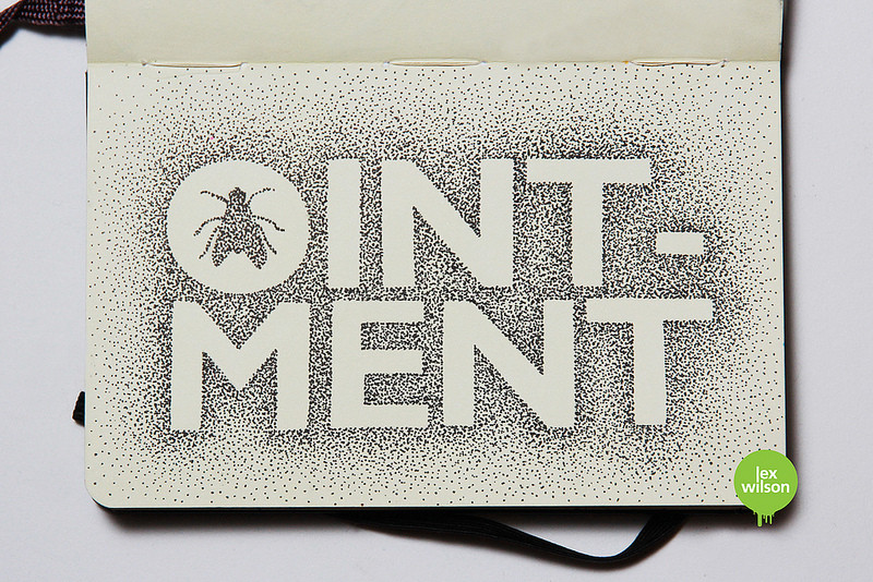 Fly in the ointment – pointillism