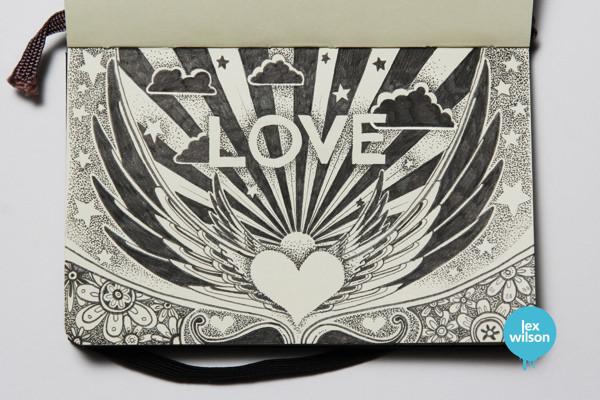 Love – pointillism
