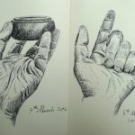 Hand Studies in Charcoal