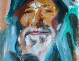 Old Man with a Dark Mantle after John Singer Sargent
