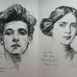 Charcoal Studies after John Singer Sargent