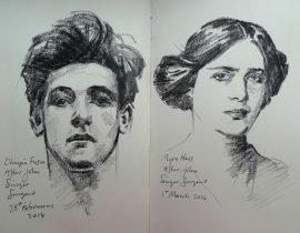 Charcoal Studies after John Singer Sargent