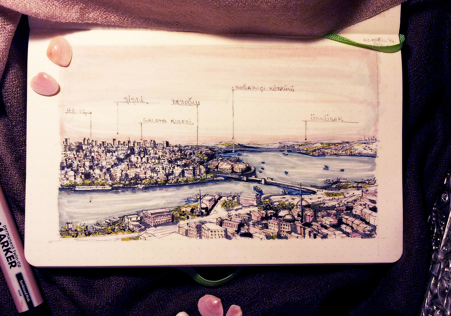 Istanbul – View along Bosphorus