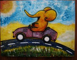 Elephant in a cabriolet