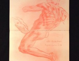 Study For The Nude Above The Persian Sibyl (Michelanglo)