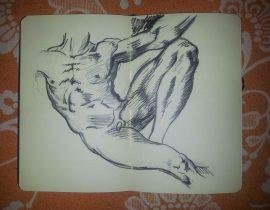 Sketch of Michelangelo's Adam Drawing