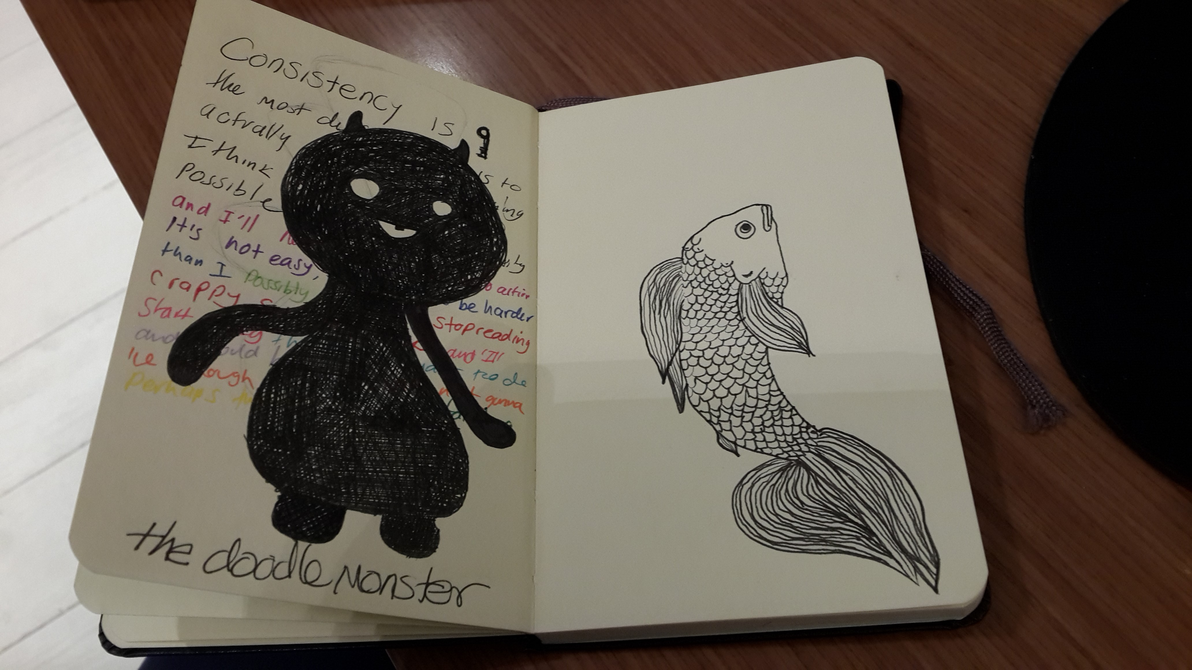 my doodle monster and the fish