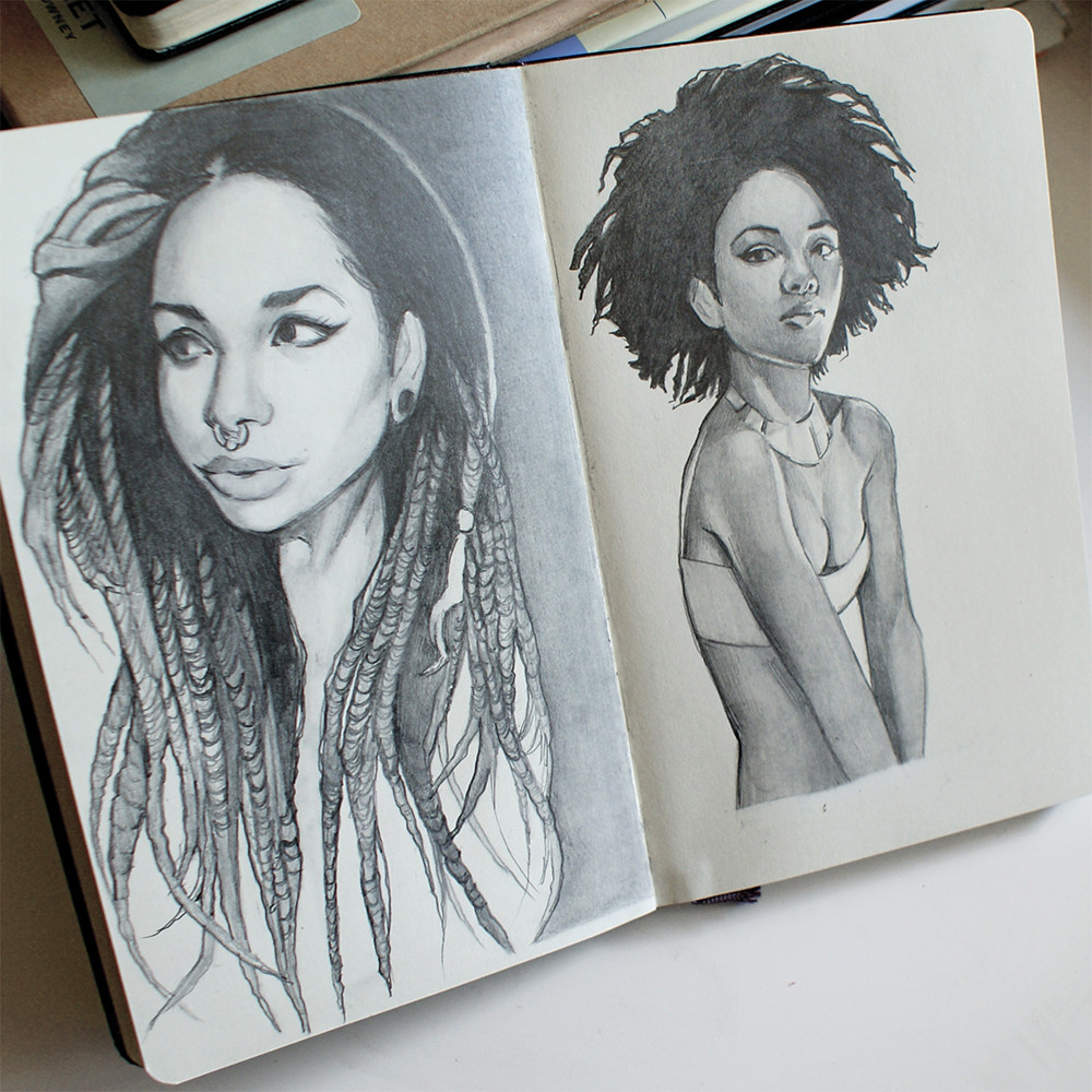 Dreadlocks and afro