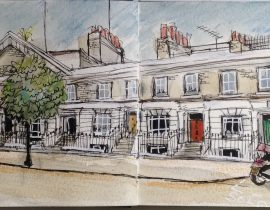 Gladstone Street from Albert Arms pub London Se1