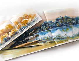 My Moleskine Folio Watercolor Notebooks