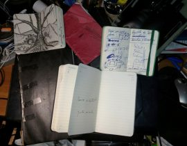 My Moleskines to work to draw…