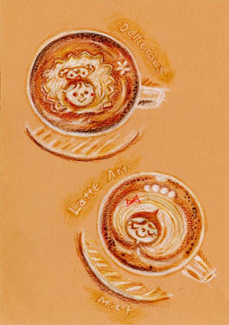 Delicious Latte Art on Mict