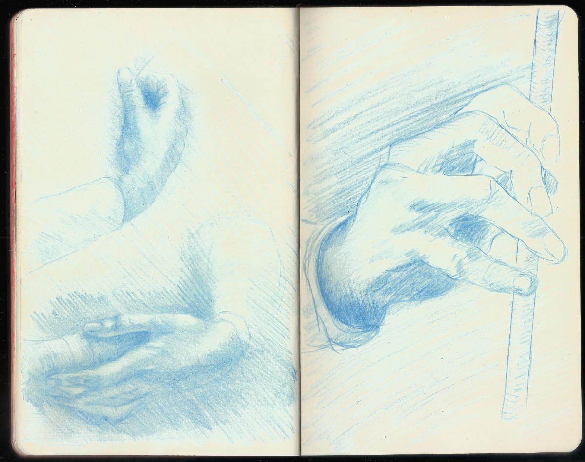 Study of Arms and Hands & Study of a Hand (Leonardo da Vinci)