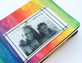 Simple colorful photo frame