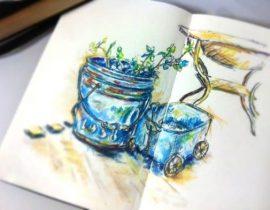Blue gardening tool