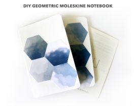 DIY GEOMETRIC MOLESKINE NOTEBOOK
