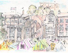 Norwich Market, Lloyds Bank & Castle