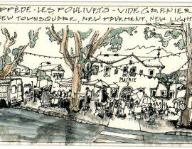 Market in Oppède, Les Poulivets