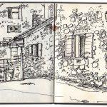 Lacoste, Provence, Place de l'église